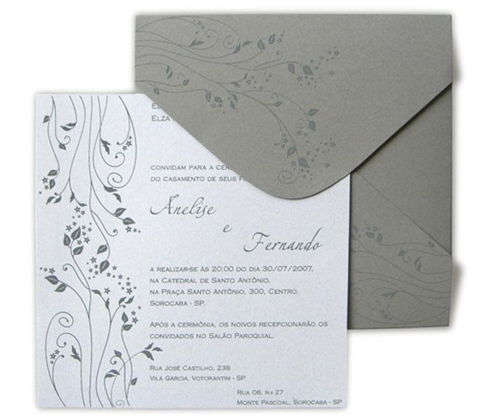 Convite de casamento Leaves LV 001