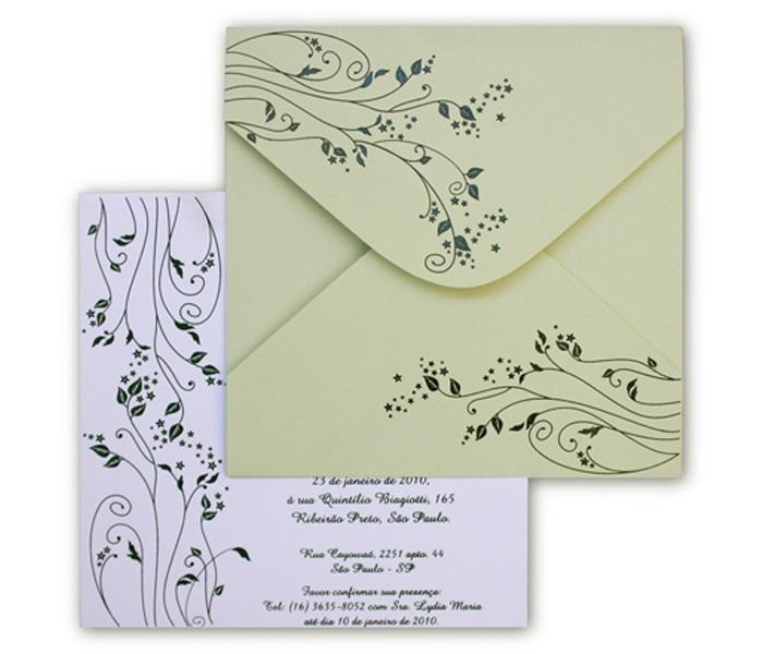 Convite de casamento Leaves LV 004