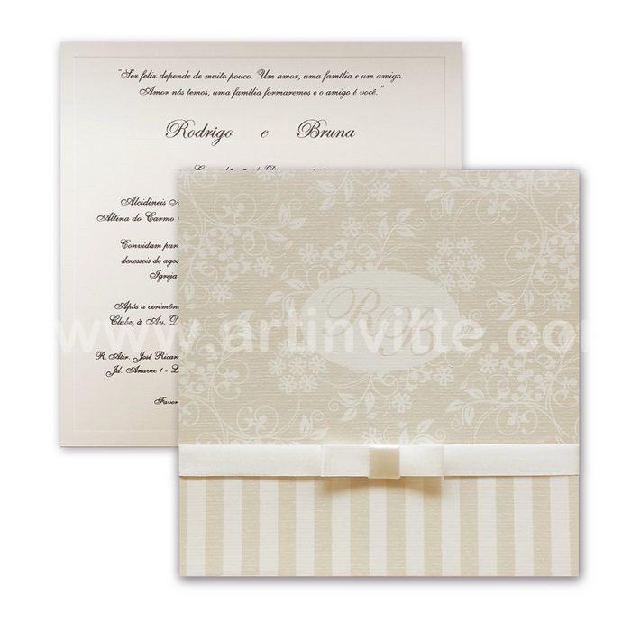 Convite de Casamento Triplo TRP 032