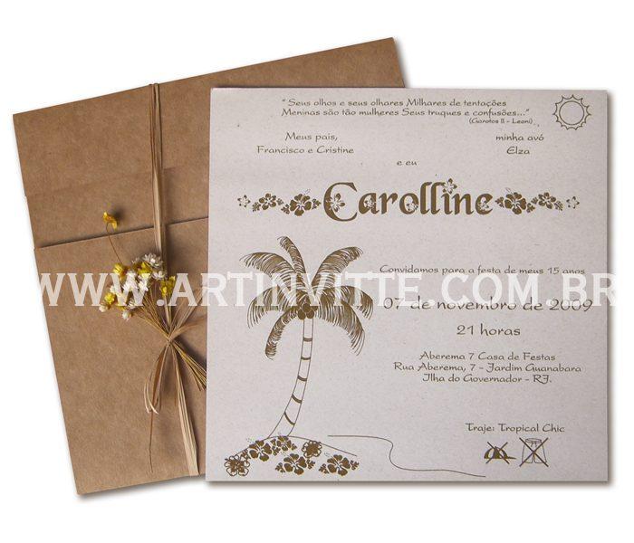 Convite de casamento DTE 001