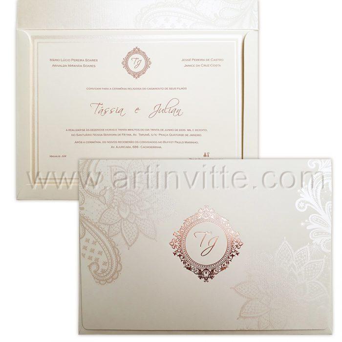 Convite de casamento moderno rosê Dois-Frisos-14