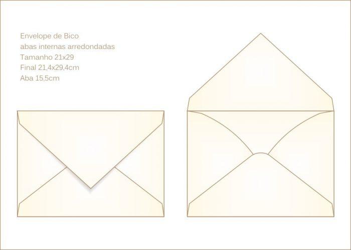 Envelope para convite 21x29 Bico 001