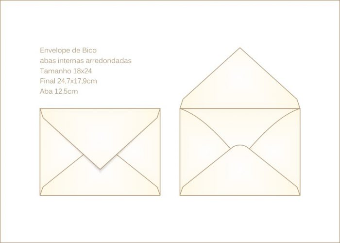 Envelope para convite 18x24 Bico 002