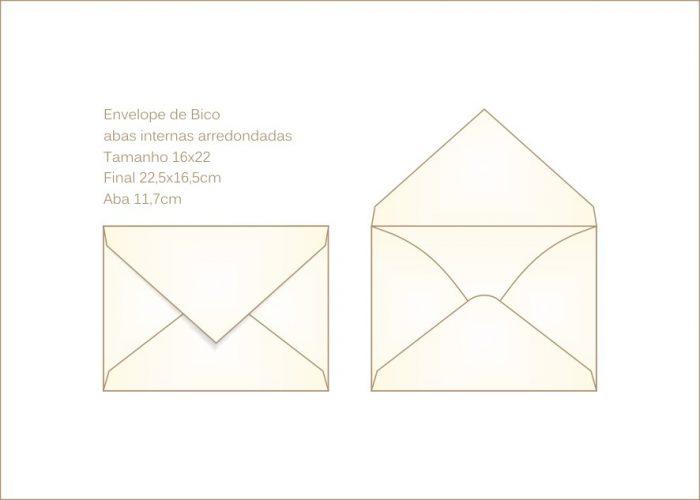 Envelope para convite 16x22cm Bico 003