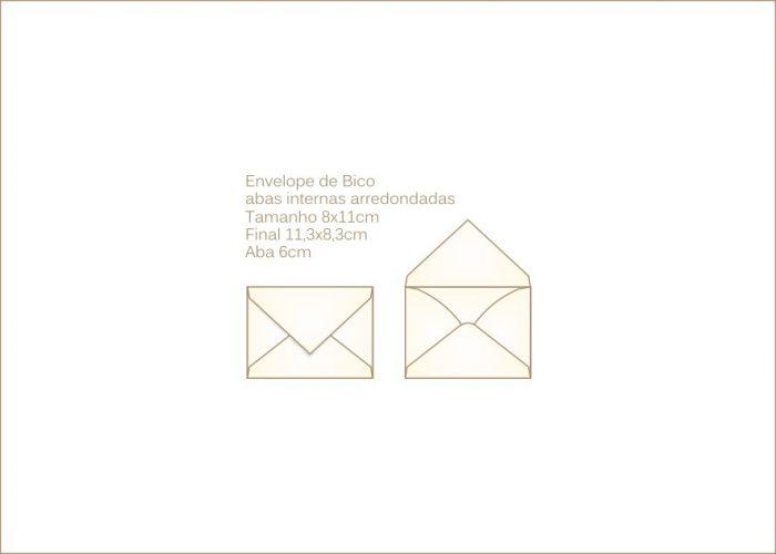 Envelope para convite 8x11cm Bico 004