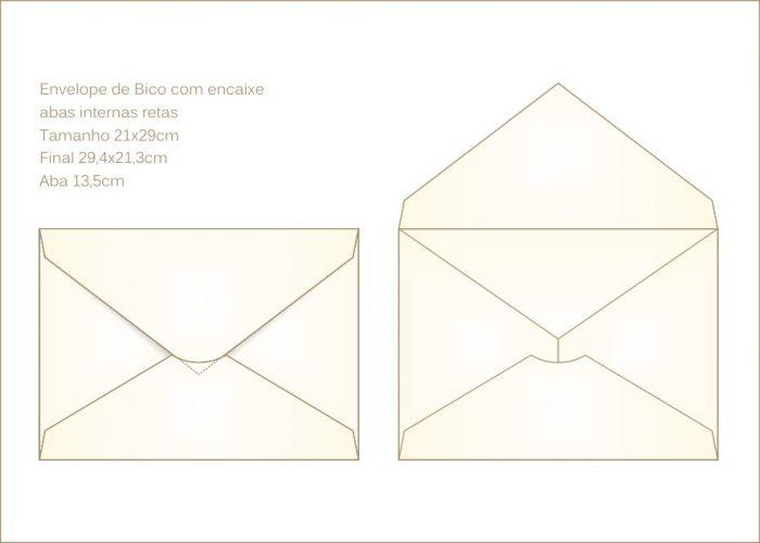 Envelope para convite 21x29cm Bico 003 com encaixe para o bico