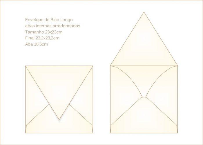 Envelope para convite 23x23cm Bico 018 - bico longo