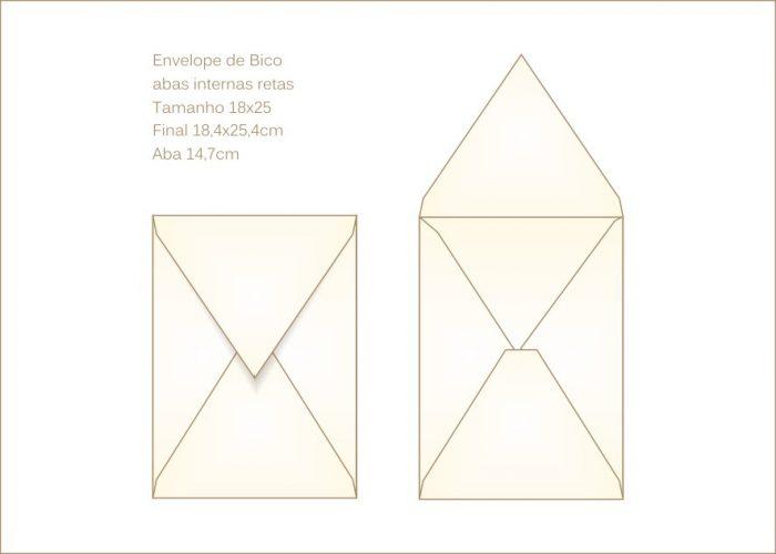 Envelope para convite 18x25cm Bico 022 vertical