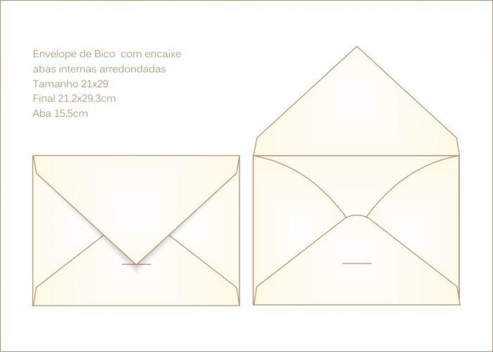 Envelope para convite 21x29cm Bico 023 com encaixe para o bico
