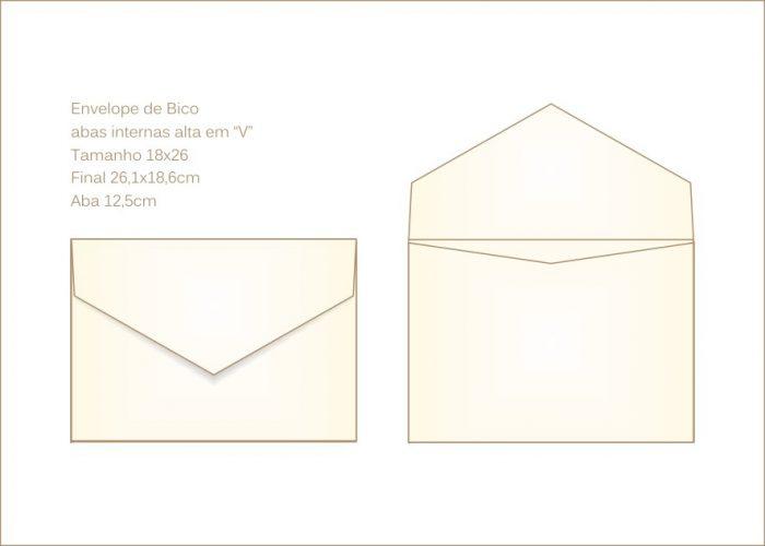 Envelope para convite 18x24cm Bico 023 com aba grande