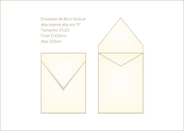Envelope para convite 17x23cm Bico 028 vertical