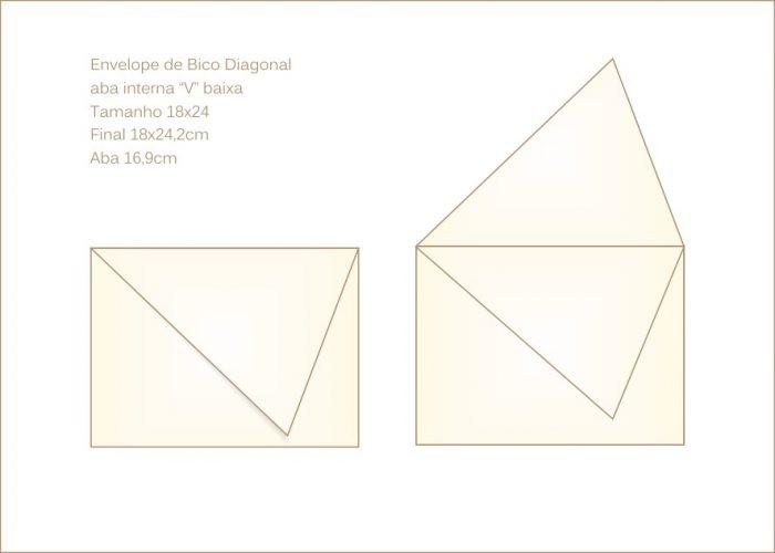 Envelope para convite 18x24cm Bico 029 com bico em diagonal