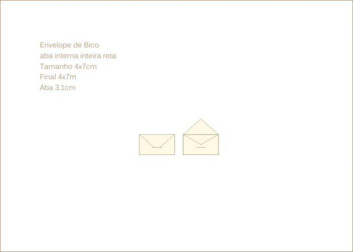 Envelope para convite 4x7cm Bico 032 com encaixe para o bico