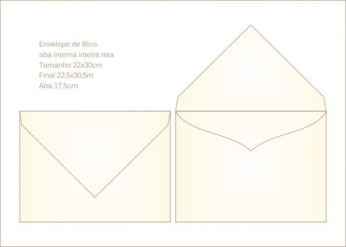 Envelope para convite 21x29cm Bico 034 com aba interna coração