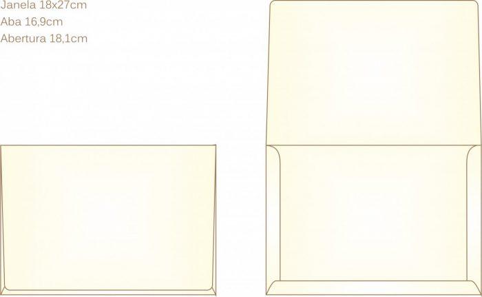 Envelope para convite tipo Janela - 02 - Art Invitte Convites