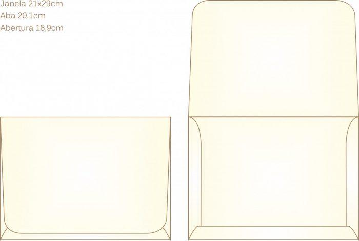 Envelope para convite tipo Janela - 03 - Art Invitte Convites