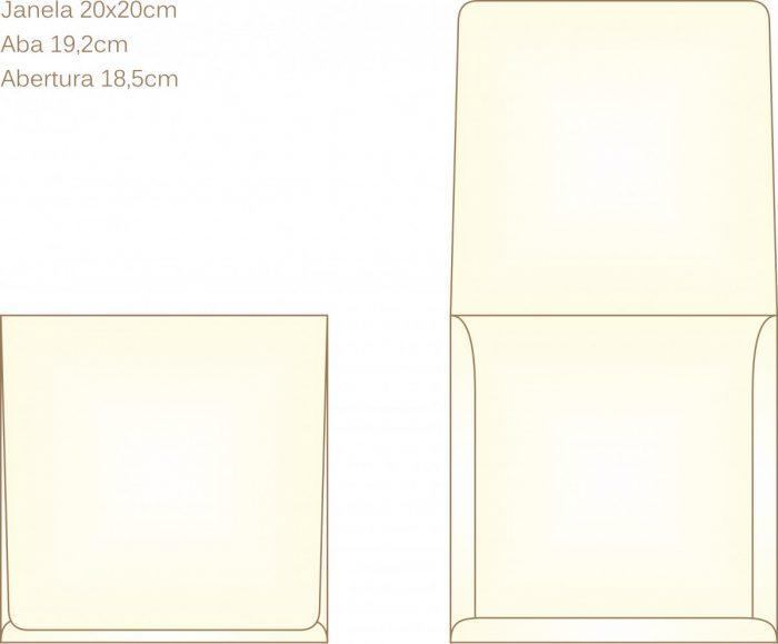 Envelope para convite tipo Janela - 04 - Art Invitte Convites