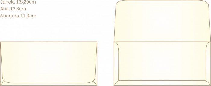 Envelope para convite tipo Janela - 05 - Art Invitte Convites