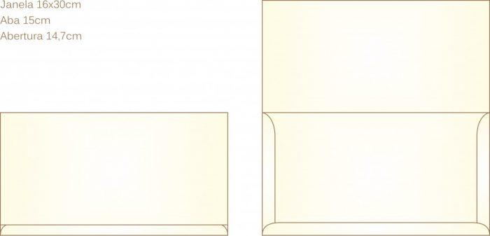 Envelope para convite tipo Janela - 06 - Art Invitte Convites
