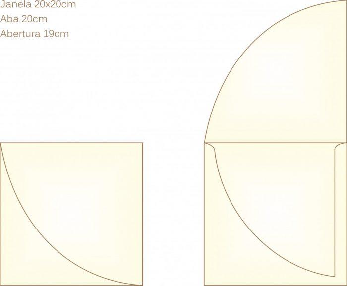 Envelope para convite tipo Janela - 10 - Art Invitte Convites