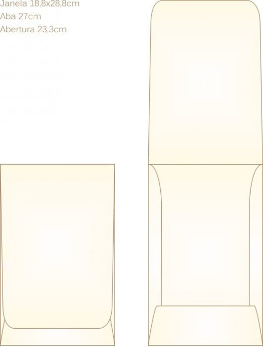 Envelope para convite tipo Janela - 11 - Art Invitte Convites