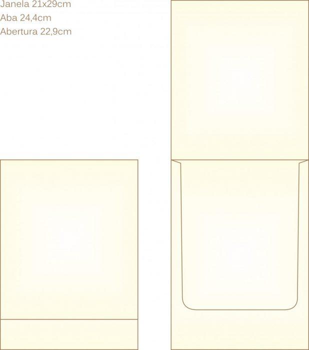 Envelope para convite tipo Janela - 12 - Art Invitte Convites