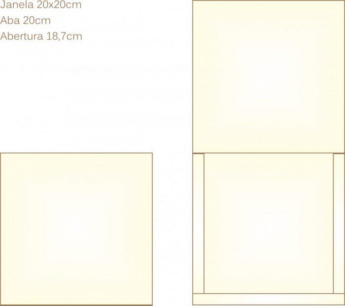 Envelope para convite tipo Janela - 13 - Art Invitte Convites