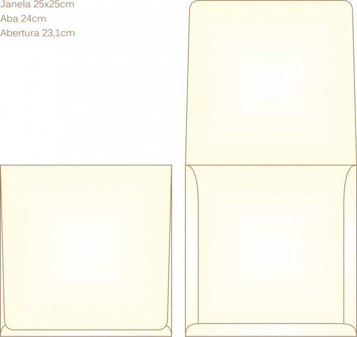 Envelope para convite tipo Janela - 14 - Art Invitte Convites