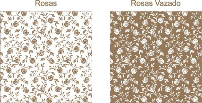 Estampa para convite Rosas