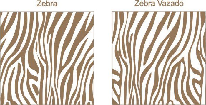 Estampa para convite Zebra