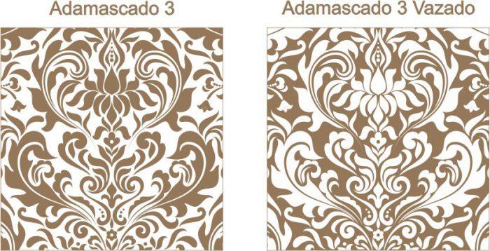 Estampa para convite Adamascado 3