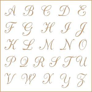 Letras e fontes para brasão e monograma - CacChampanhe