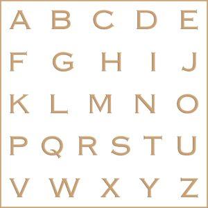 Letras e fontes para brasão e monograma - Copperplate