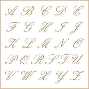 Letras e fontes para brasão e monograma - English