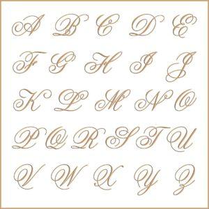 Letras e fontes para brasão e monograma - Flemish
