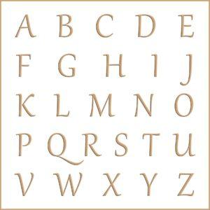 Letras e fontes para brasão e monograma - Gabriola