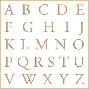 Letras e fontes para brasão e monograma - Garamond