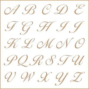 Letras e fontes para brasão e monograma - Larissa