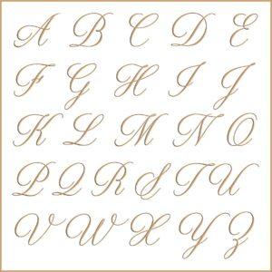 Letras e fontes para brasão e monograma - MiltonTwo