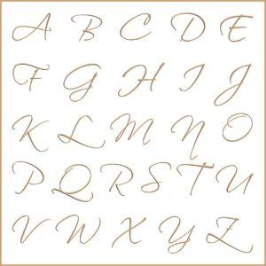 Letras e fontes para brasão e monograma - Scriptina