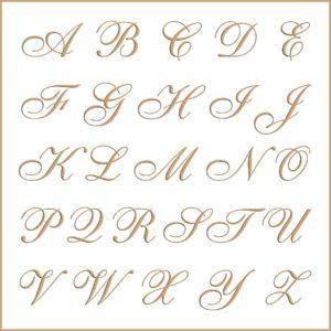 Letras e fontes para brasão e monograma - Sheer Elegance