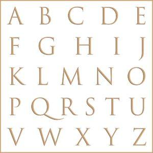 Letras e fontes para brasão e monograma - Trajan