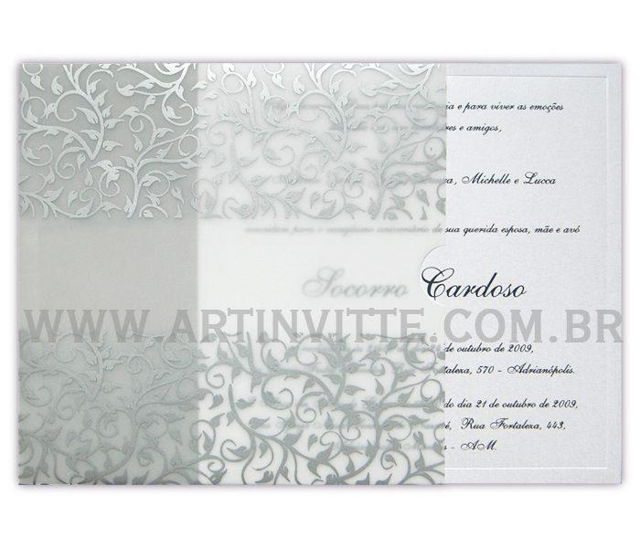 Convite de casamentoFronha Quadrado DFQ 003
