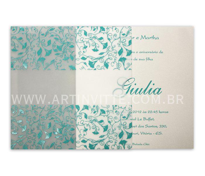 Convite de casamento Fronha Quadrado DFQ 005