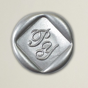 Lacre de resina para convite de casamento - Formato Quadrado- Art Invitte Convites