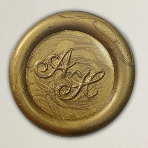 Lacre de resina para convite de casamento - Cor 01 Ouro Velho - Art Invitte Convites