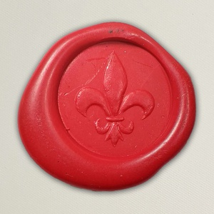 Lacre de resina para convite de casamento - Cor 02 Vermelho - Art Invitte Convites