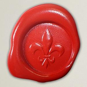 Lacre de resina para convite de casamento - Cor 03 - Vermelho Brilho - Art Invitte Convites