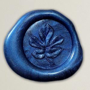 Lacre de resina para convite de casamento - Cor 38 Azul Mesclado - Art Invitte Convites