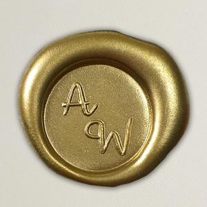 Lacre de resina para convite de casamento - Cor 42 Dourado Fosco - Art Invitte Convites